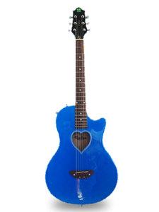 Fearless牌电箱民谣两用蓝色幸运草吉他