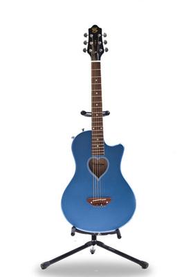 Fearless牌电箱民谣两用蓝色龙吉他
