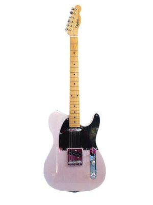 粉色电吉他