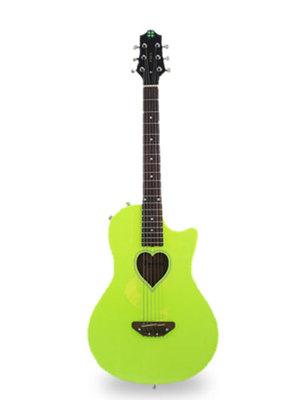 Fearless牌电箱民谣两用黄色幸运星吉他